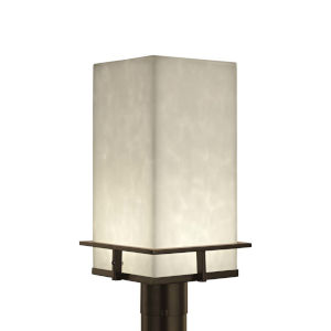 Clouds - Avalon Brushed Nickel Nine-Inch LED Outdoor Post Light