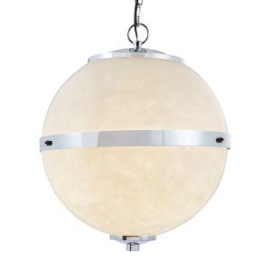 Clouds - Imperial Polished Chrome 25-Inch Eight-Light LED Chandelier