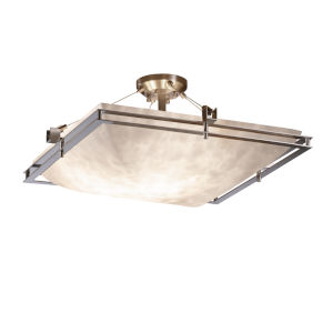 Clouds Brushed Nickel Six-Light Semi-Flush Mount