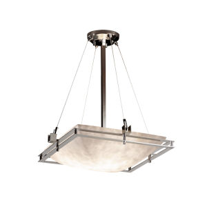 Clouds Brushed Nickel Three-Light Pendant