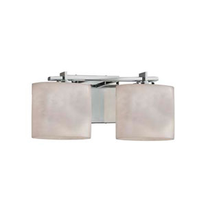 Clouds - Era Polished Chrome Two-Light LED Bath Bar with Oval Clouds Shade