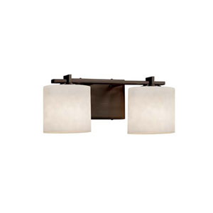 Clouds - Era Dark Bronze Two-Light LED Bath Bar with Oval Clouds Shade