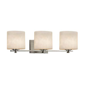 Clouds - Era Brushed Nickel Three-Light LED Bath Bar with Oval Clouds Shade