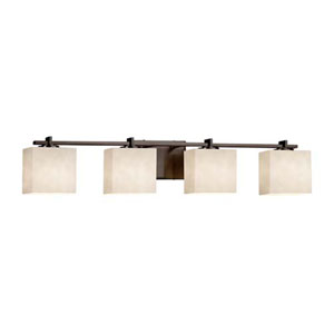 Clouds - Era Dark Bronze Four-Light LED Bath Bar with Rectangle Clouds Shade