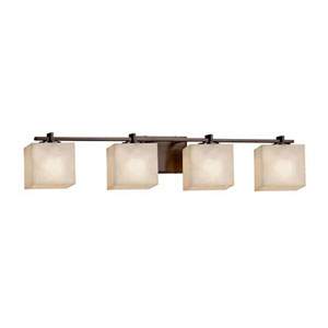 Clouds - Era Brushed Nickel Four-Light LED Bath Bar with Rectangle Clouds Shade