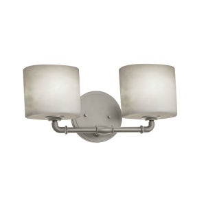 Clouds Bronx Brushed Nickel Two-Light LED Bath Vanity
