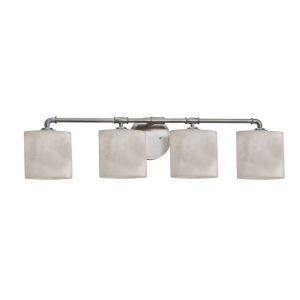 Clouds Bronx Brushed Nickel Four-Light LED Bath Vanity