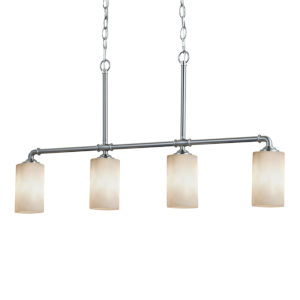 Clouds Brushed Nickel Four-Light LED Chandelier
