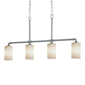 Clouds Brushed Nickel Four-Light Chandelier