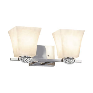 Clouds - Malleo Brushed Nickel 15-Inch Two-Light LED Bath Vanity