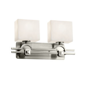 Clouds Argyle Brushed Nickel Two-Light LED Bath Vanity