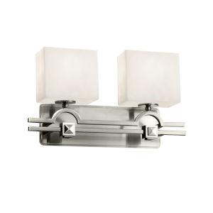 Clouds Argyle Brushed Nickel Two-Light LED Bath Vanity