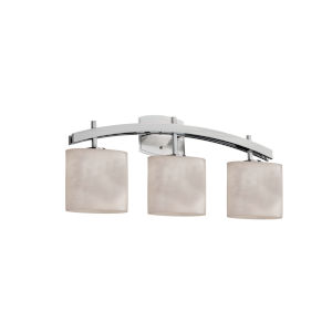 Clouds Brushed Nickel Three-Light Bath Vanity