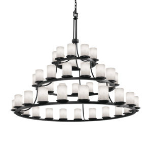 Clouds Matte Black 45-Light LED Chandelier