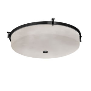 Clouds Matte Black Three-Light Flush Mount