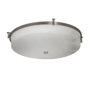 Clouds Brushed Nickel Three-Light Flush Mount