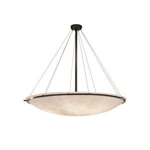 Clouds Dark Bronze Nine-Light LED Pendant