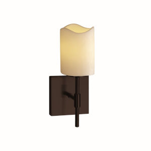 CandleAria Union Dark Bronze and Cream One-Light Wall Sconce