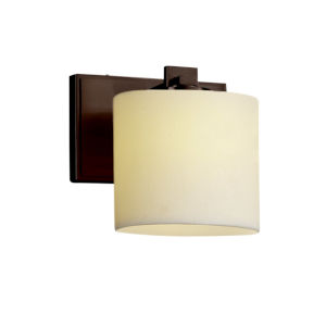 CandleAria Era Dark Bronze and Cream One-Light Wall Sconce