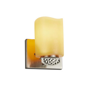 CandleAria - Malleo Matte Black Six-Inch LED Wall Sconce