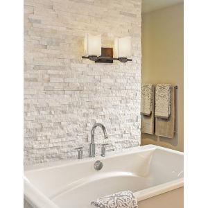 CandleAria - Malleo Dark Bronze 15-Inch Two-Light LED Bath Vanity