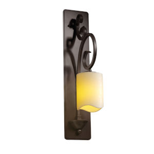 CandleAria Victoria Dark Bronze and Cream One-Light Wall Sconce