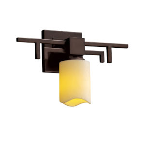 CandleAria Aero Dark Bronze and Cream LED Wall Sconce