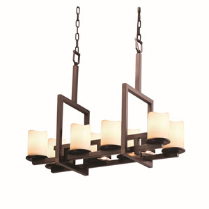 CandleAria Dakota Dark Bronze Three-Light LED Chandelier