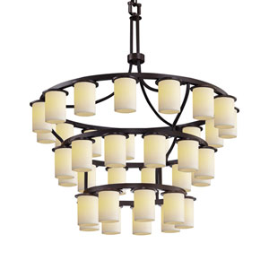 CandleAria Dakota Dark Bronze 36-Light LED Chandelier