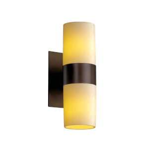 CandleAria Dark Bronze and Cream Two-Light Wall Sconce