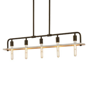 Eco - Bronx Polished Chrome Five-Inch Five-Light Chandelier