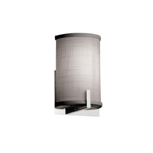 Textile Century Polished Chrome and Gray LED Wall Sconce
