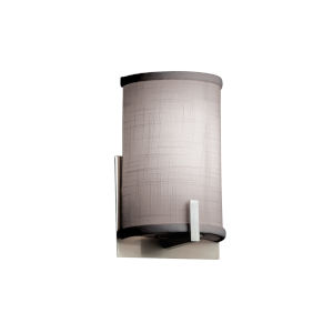 Textile Century Brushed Nickel and Gray One-Light Wall Sconce