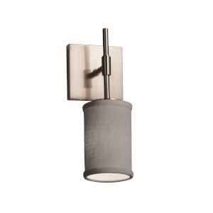 Textile Union Brushed Nickel and Gray One-Light Wall Sconce