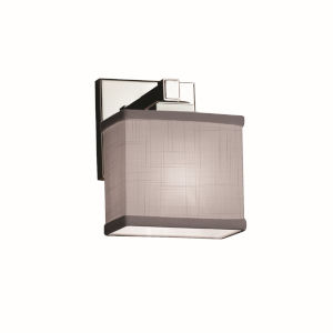 Textile Regency Polished Chrome and Gray One-Light Wall Sconce
