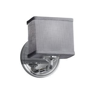 Textile Bronx Polished Chrome and Gray One-Light Wall Sconce