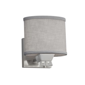 Textile Ardent Brushed Nickel and Gray One-Light Wall Sconce