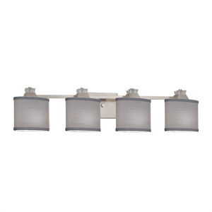 Textile Ardent Brushed Nickel and Gray Four-Light Bath Vanity