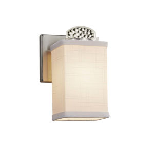 Textile - Malleo Matte Black Six-Inch One-Light Wall Sconce