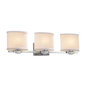 Textile - Malleo Brushed Nickel 25-Inch Three-Light LED Bath Vanity
