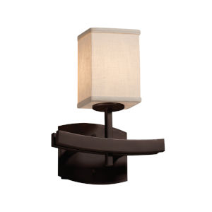 Textile Dark Bronze and Cream LED Wall Sconce