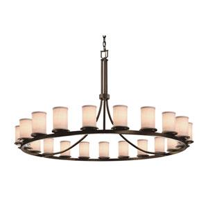 Textile Dakota Dark Bronze 21-Light LED Chandelier