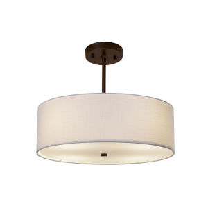 Textile Dark Bronze and White Four-Light LED Pendant