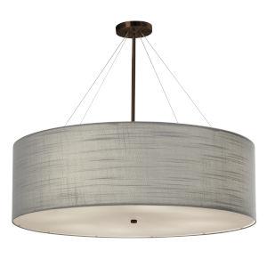 Textile Classic Dark Bronze and Gray Eight-Light LED Pendant