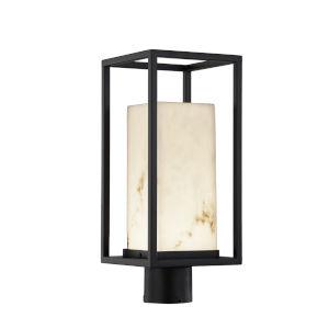 LumenAria Matte Black LED Outdoor Post