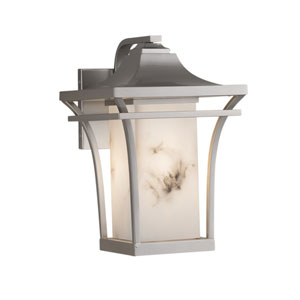LumenAria Summit Brushed Nickel One-Light Outdoor Wall Sconce