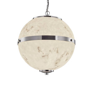LumenAria - Imperial Polished Chrome 17-Inch Three-Light LED Chandelier