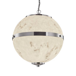 LumenAria - Imperial Polished Chrome 25-Inch Eight-Light LED Chandelier