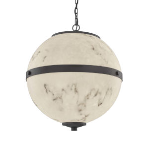 LumenAria - Imperial Brushed Nickel 25-Inch Six-Light LED Chandelier