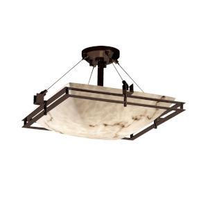 LumenAria Dark Bronze Three-Light LED Semi-Flush Mount